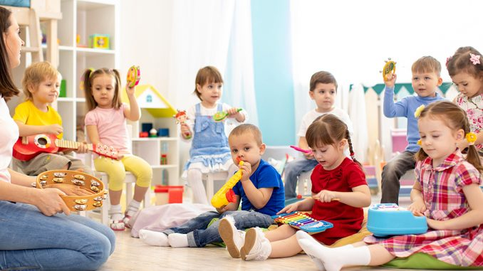 Children playing inside a Punchbowl Childcare Centre
